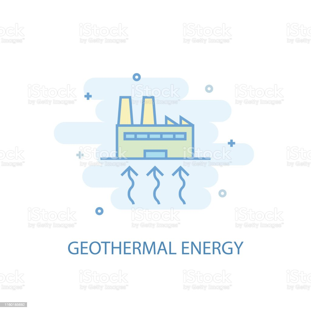 hight resolution of geothermal energy line trendy icon simple line colored illustration geothermal energy symbol flat