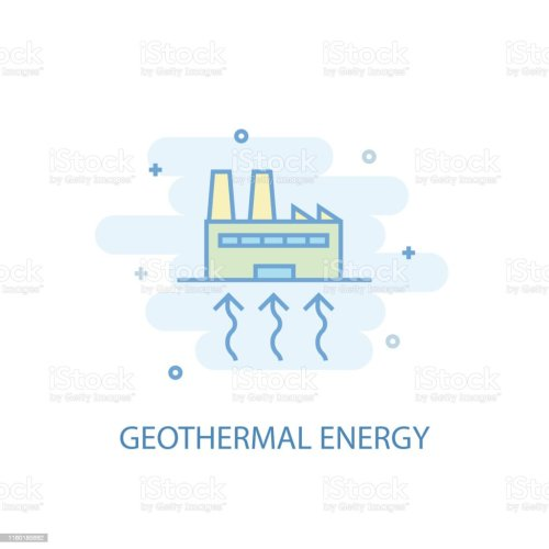 small resolution of geothermal energy line trendy icon simple line colored illustration geothermal energy symbol flat