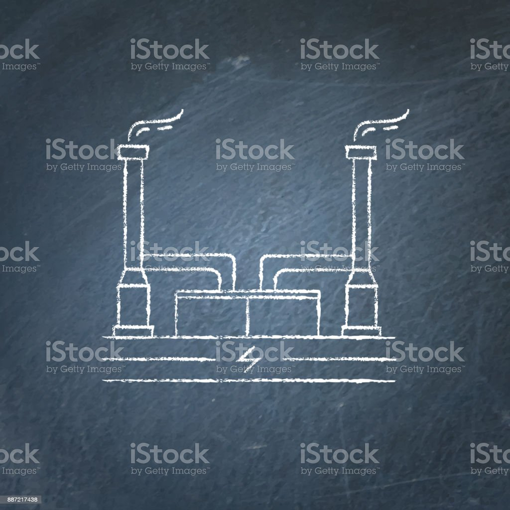 hight resolution of geothermal power plant chalkboard sketch royalty free geothermal power plant chalkboard sketch stock vector art