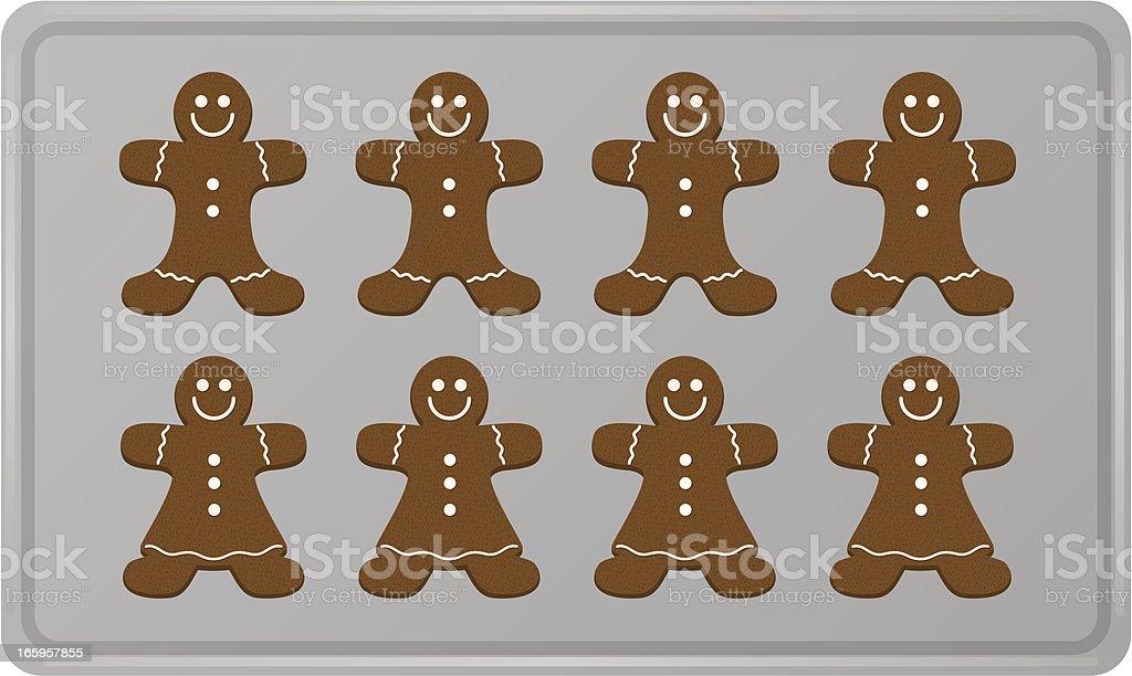 royalty free gingerbread man clip