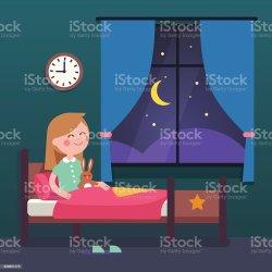 Cartoon Kid Bed Clipart