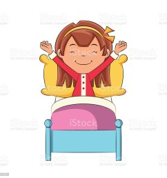 girl waking up royalty free girl waking up stock vector art amp more images [ 1024 x 1024 Pixel ]