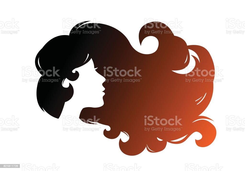 woman hair blowing illustrations