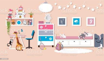 16 717 Girls Room Illustrations Royalty Free Vector Graphics & Clip Art iStock