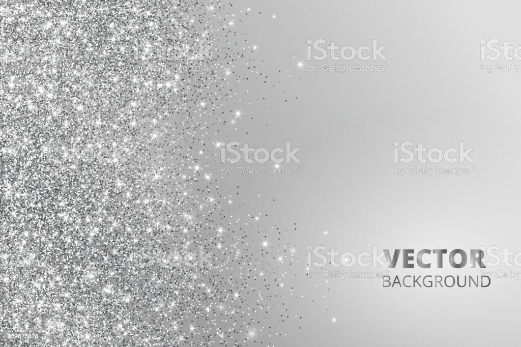 Snow Falling Desktop Wallpaper Glitter Confetti Snow Falling From The Side Vector Silver