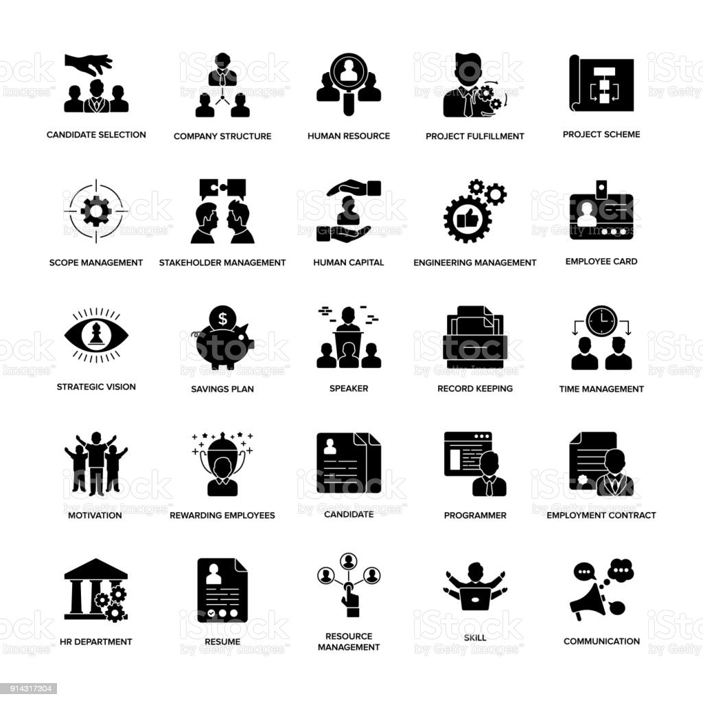 Glyph Icons Project Management Stock Vector Art & More