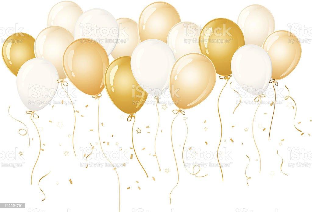 gold balloons clip art vector