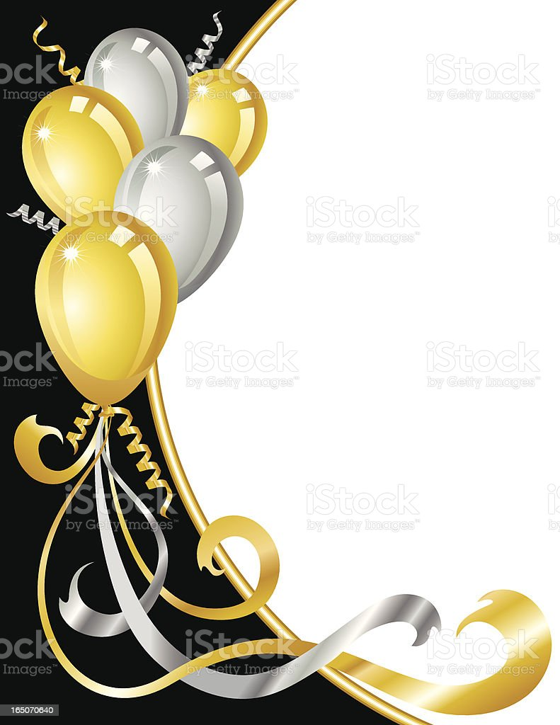 royalty free black and gold balloons