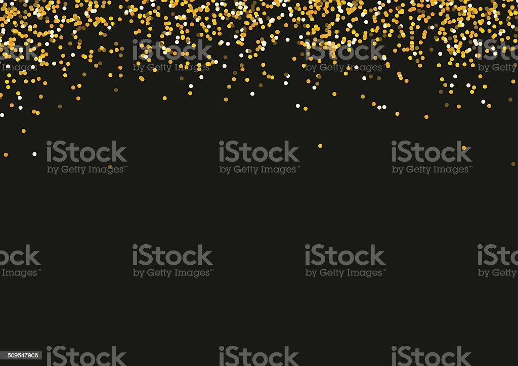 royalty free black and gold confetti