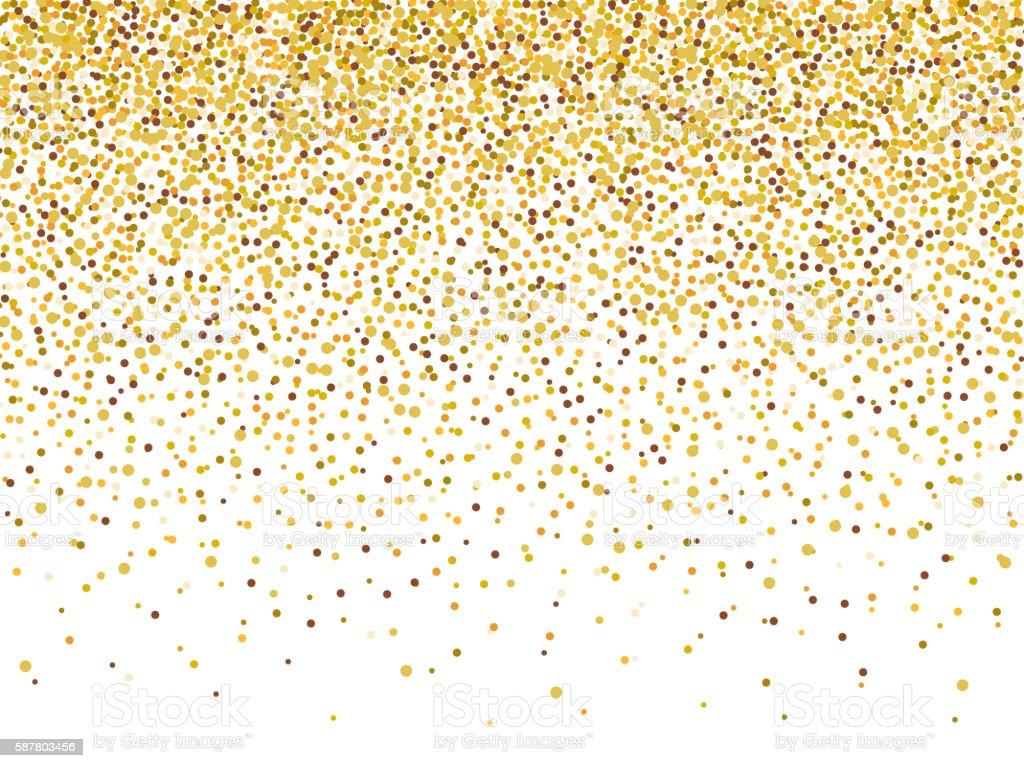 Purple Falling Circles Wallpaper Gold Glitter Confetti Frame For Festive Greeting Card