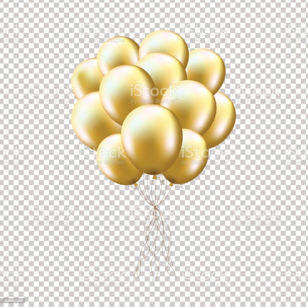 balloon gold clip art vector