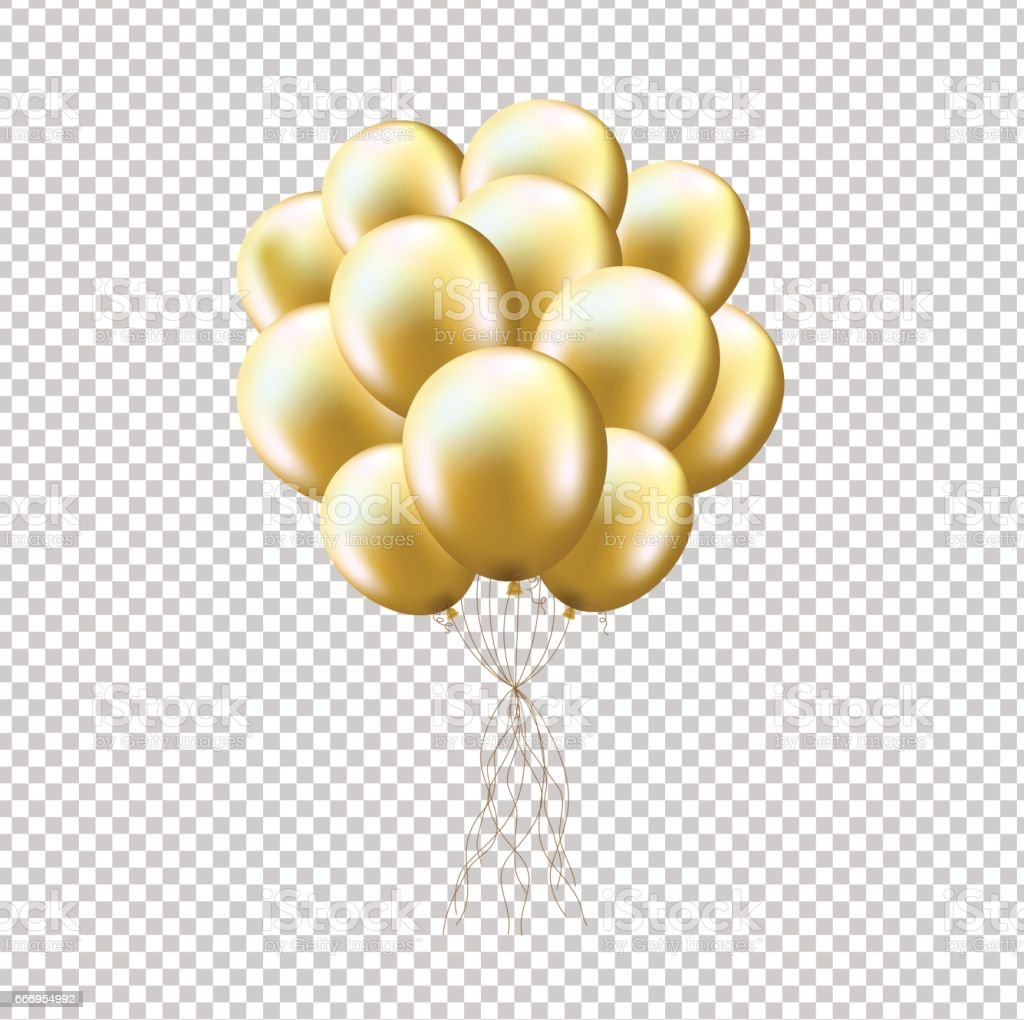 royalty free balloon gold clip