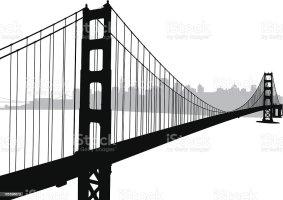 Golden Gate Bridge stock vector art 165596673   iStock