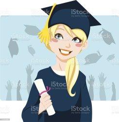 graduate vector student female achievement mortarboard cap hat