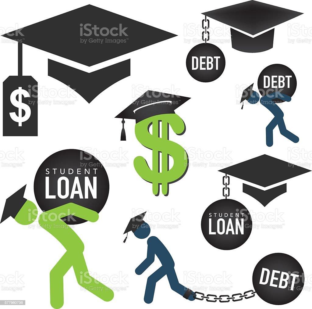 royalty free debt clip art vector