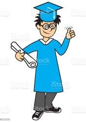 Graduating Student Boy Stock Illustration Download Image Now iStock