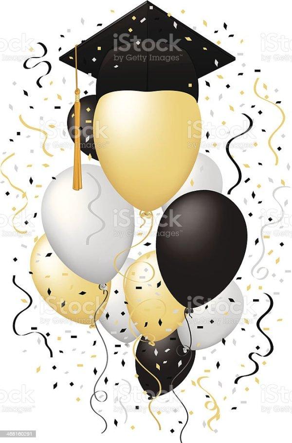 graduation balloons stock illustration