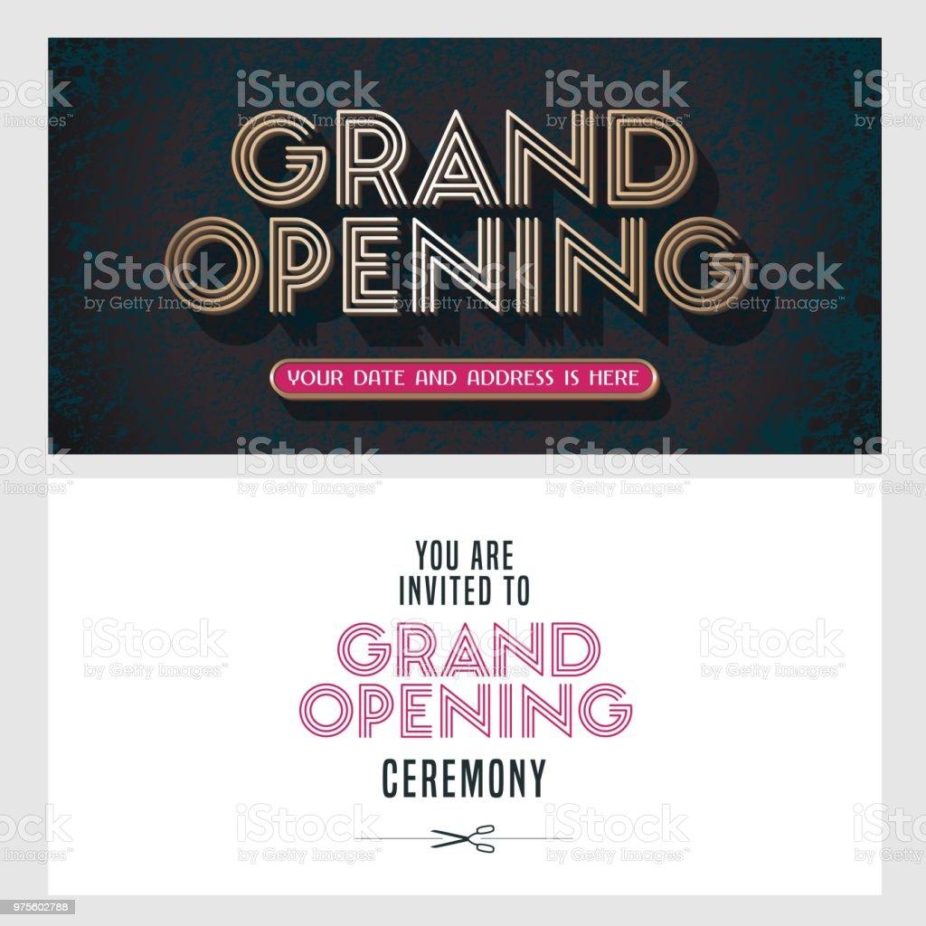 https www istockphoto com fr vectoriel inauguration de lillustration vectorielle carte dinvitation pour le nouveau gm975602788 265355733