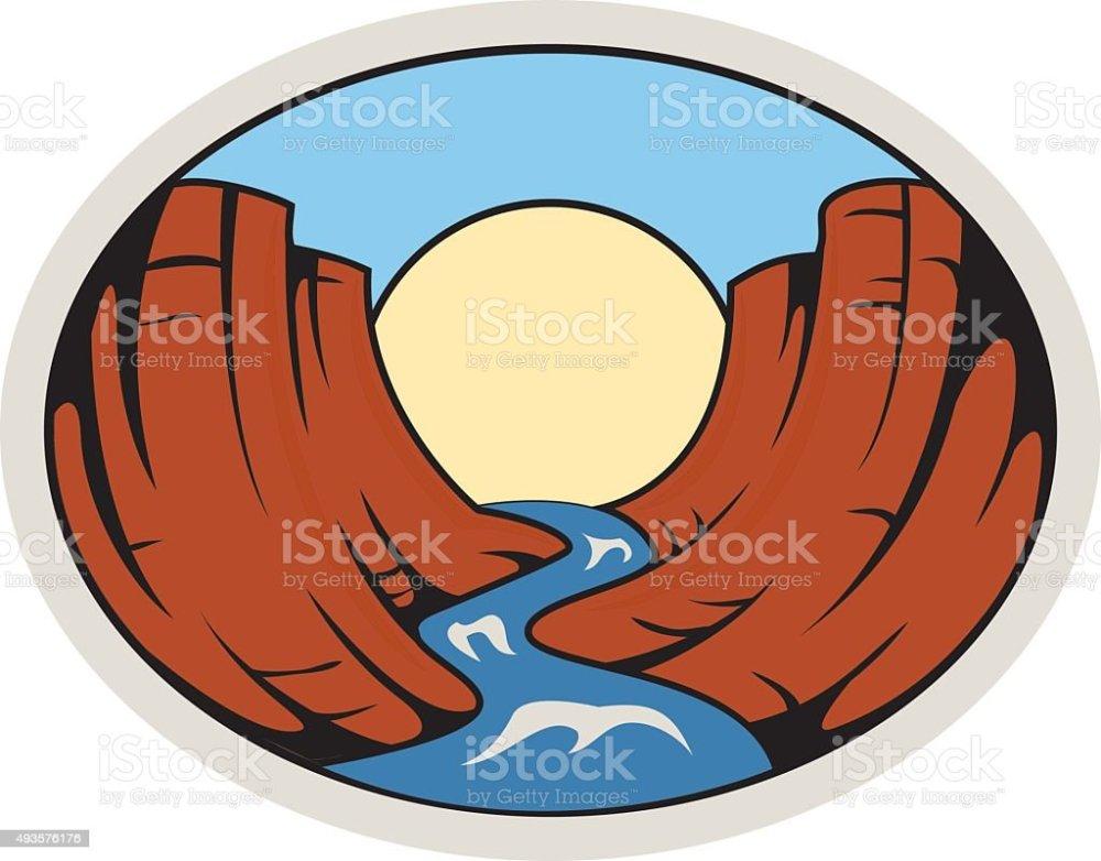 medium resolution of grand canyon colorado river in oval royalty free grandcanyoncoloradoriverinoval stock vector art amp