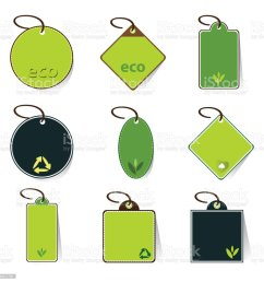 green eco price tags clip art illustration  [ 1024 x 1024 Pixel ]