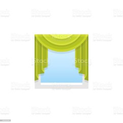 Swag Kitchen Curtains Ceramic Canisters 綠色布藝窗簾中央贓物向量插圖平的陰影圖示向量插圖及更多一個物體圖片 綠色布藝窗簾 中央贓物 向量插圖 平的陰影圖示