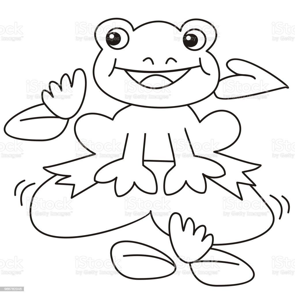 Malvorlage frosch auf seeerose Coloring and Malvorlagan