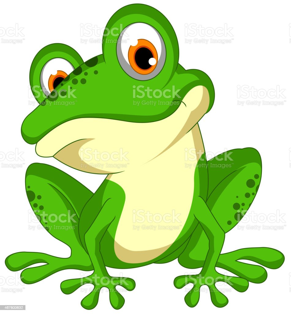 royalty free frog clip art vector
