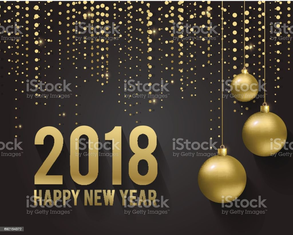 Colc 3d Wallpapers Greeting Card Invitation With Happy New Year 2018 And