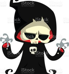 grim reaper cartoon character isolated on a white background cute death character in black hood [ 842 x 1024 Pixel ]