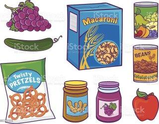 Cartoon Items Grocery