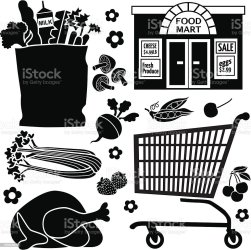 vector grocery bag convenience icons clip shopping paper illustration illustrations clipart royalty istock graphics cartoons cart gettyimages istockphoto