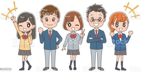 students japanese student vector female enjoying japan clip illustration themselves boys illustrations ken language center cartoons child istockphoto graphics