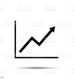 growth line chart icon growing diagram flat vector illustration royalty free growth line [ 1024 x 1024 Pixel ]