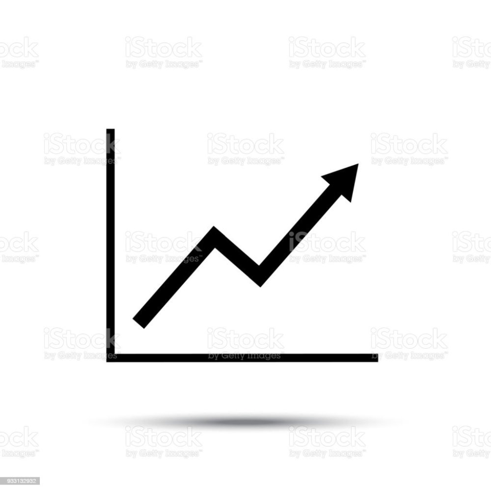 medium resolution of growth line chart icon growing diagram flat vector illustration royalty free growth line
