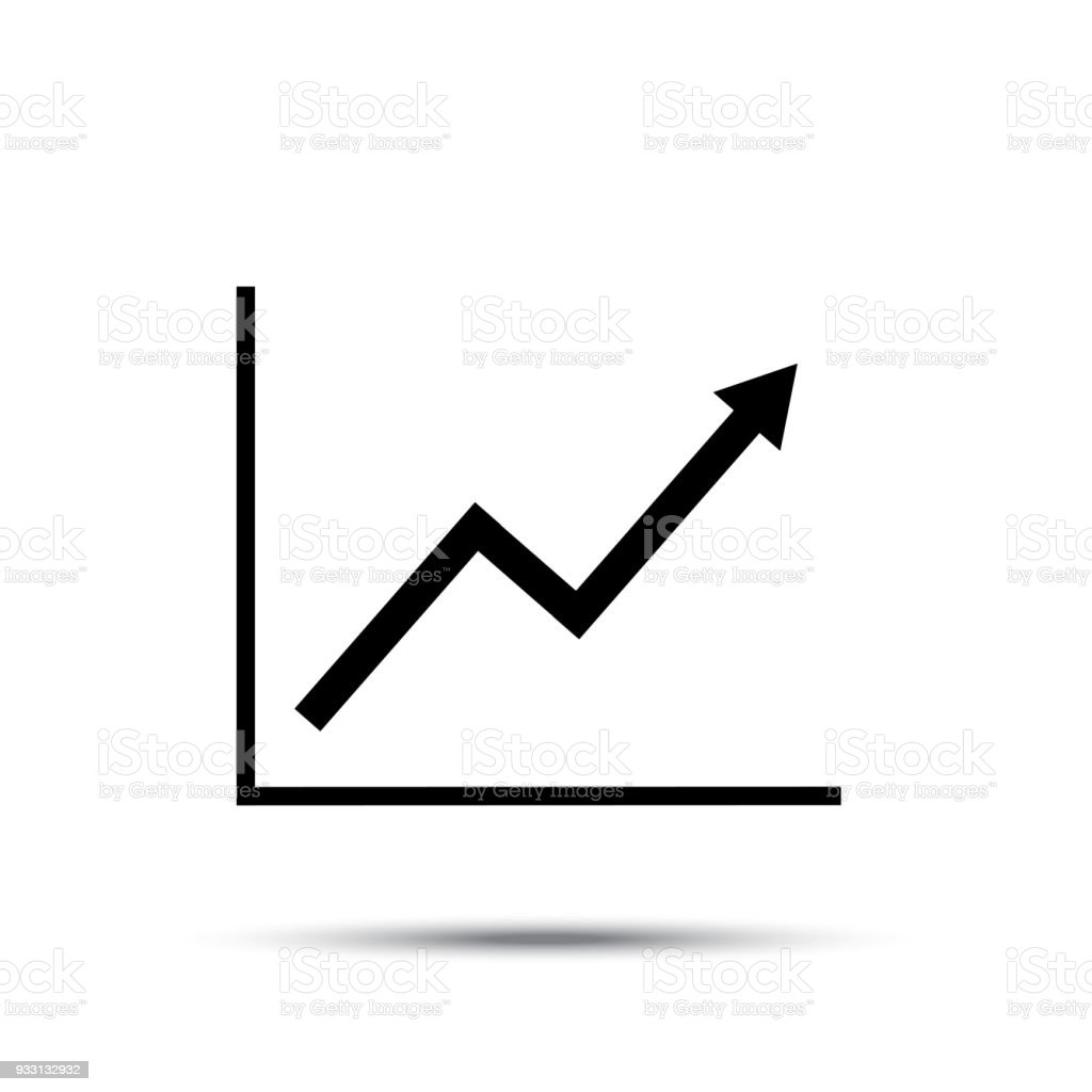 hight resolution of growth line chart icon growing diagram flat vector illustration royalty free growth line