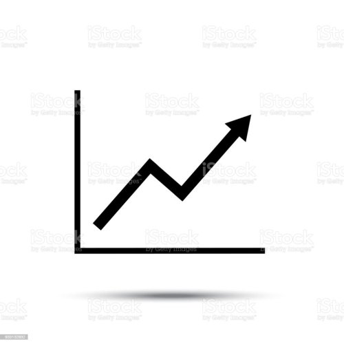 small resolution of growth line chart icon growing diagram flat vector illustration royalty free growth line