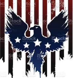 grunge american eagle in american flag design vector art illustration [ 850 x 1024 Pixel ]