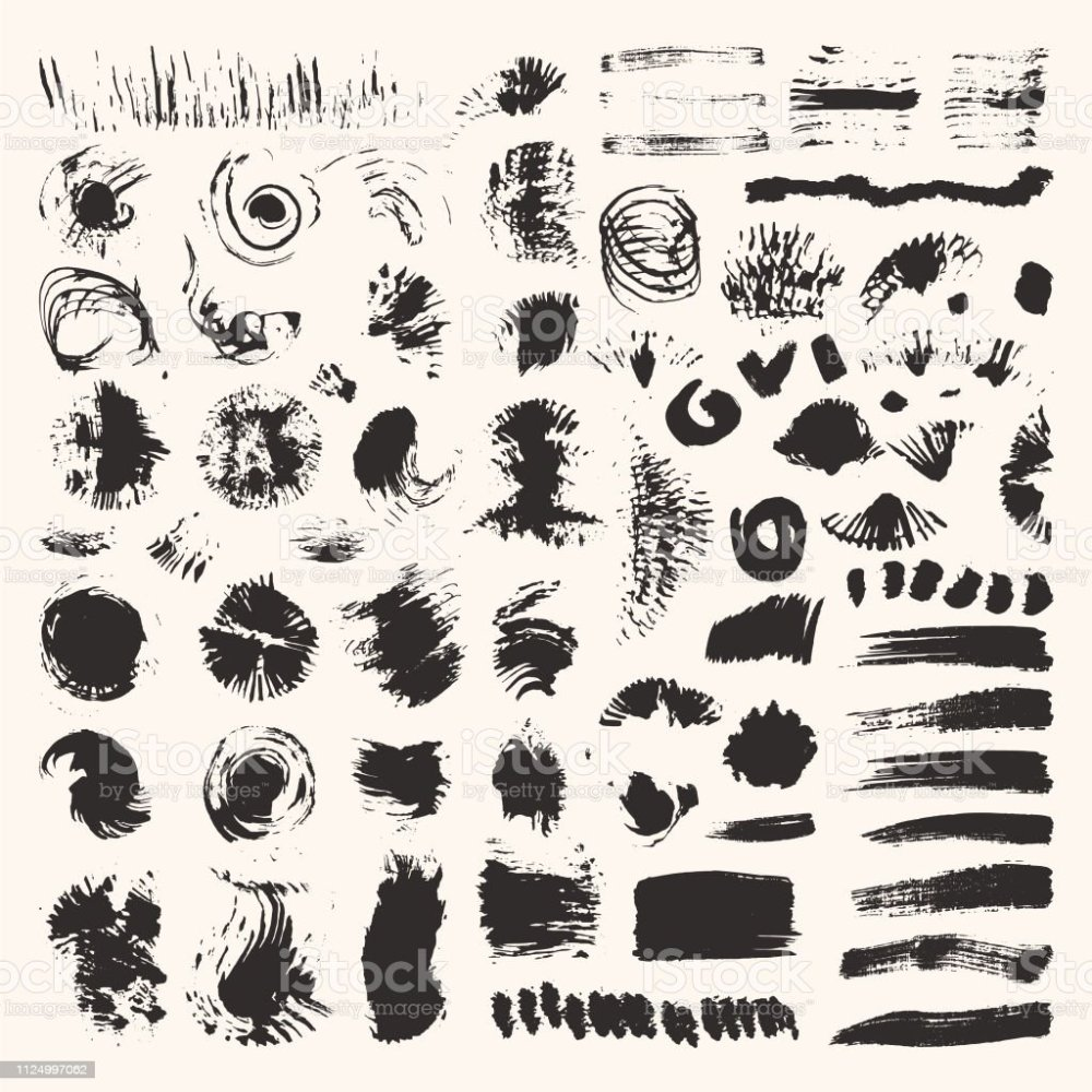 medium resolution of grunge textures brush strokes illustrations clipart collection hand drawn elements for flyer