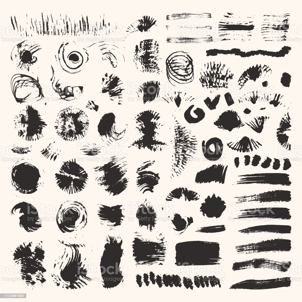 hight resolution of grunge textures brush strokes illustrations clipart collection hand drawn elements for flyer