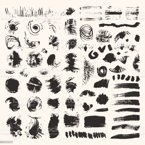 small resolution of grunge textures brush strokes illustrations clipart collection hand drawn elements for flyer