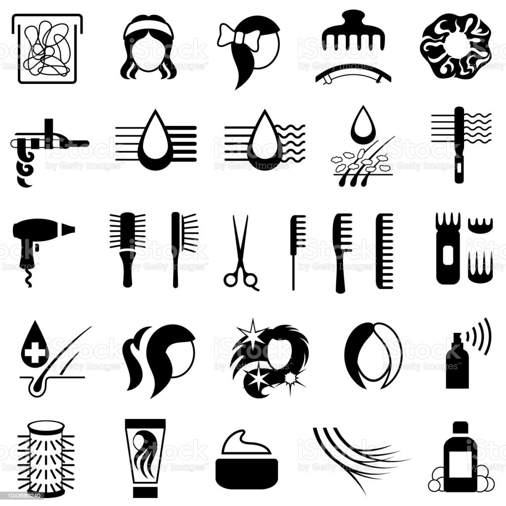 hair accessories illustrations
