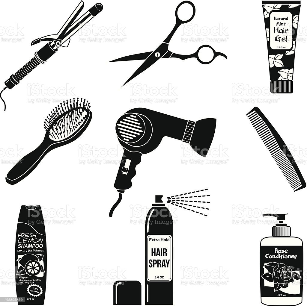 hair dryer illustrations