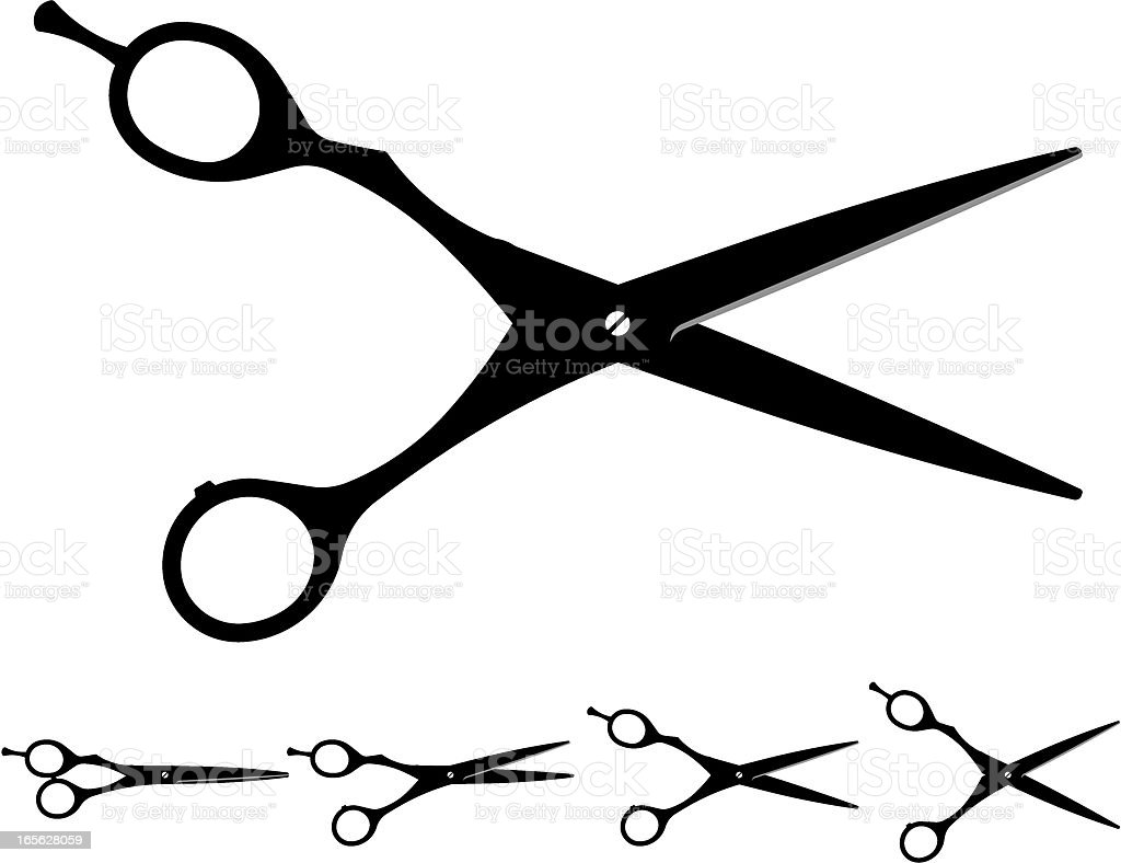 best haircutting scissors illustrations
