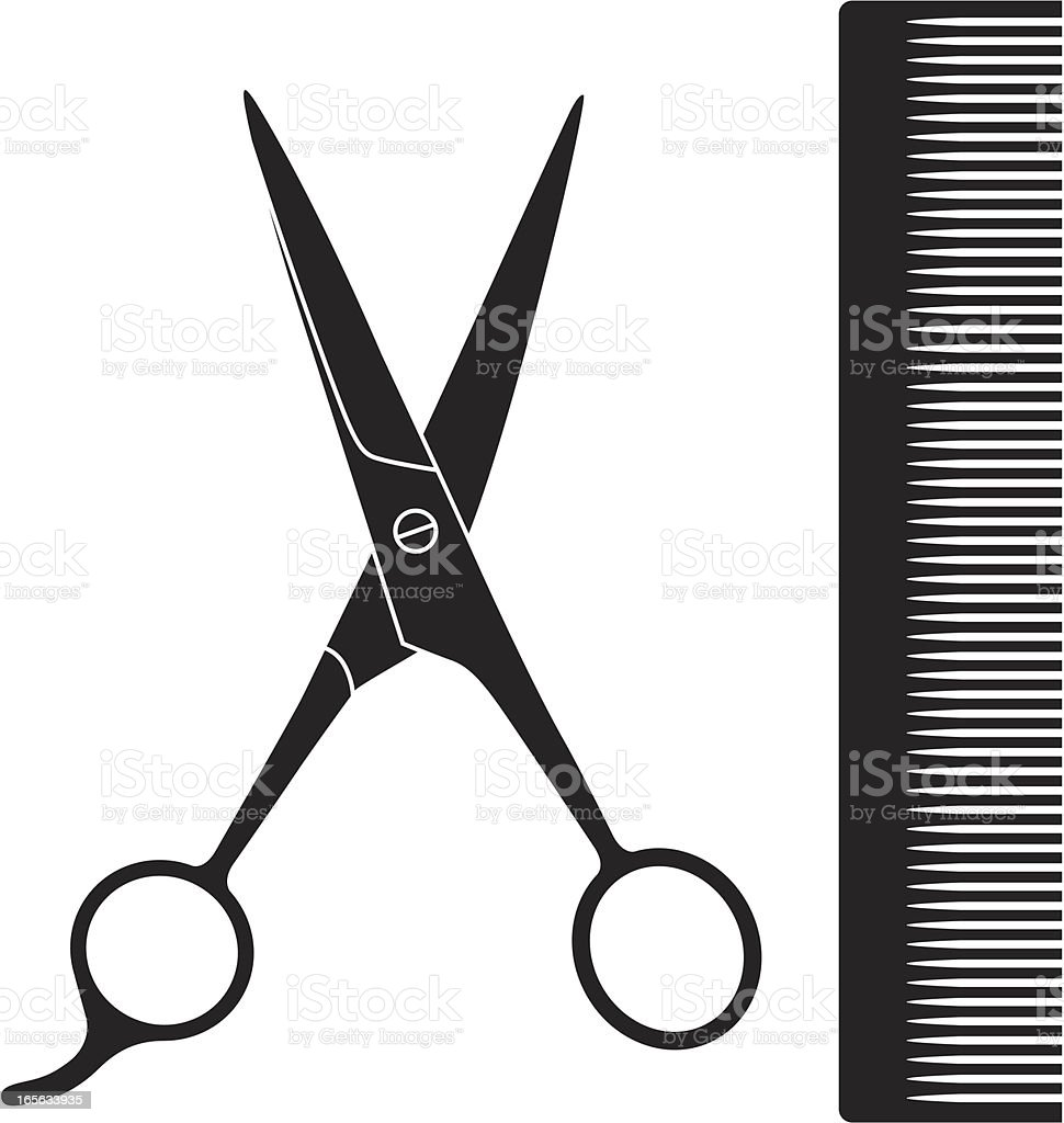 haircutting scissors illustrations