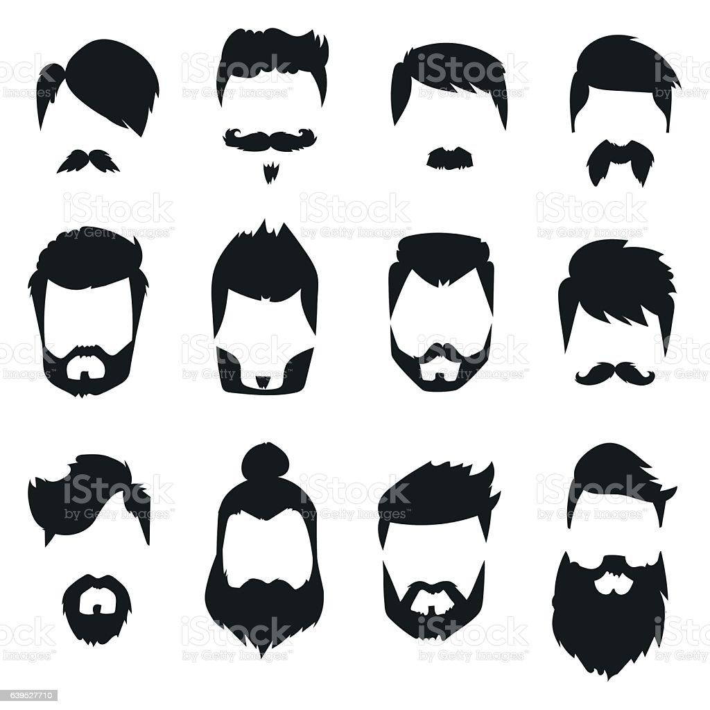 royalty free beard clip art vector