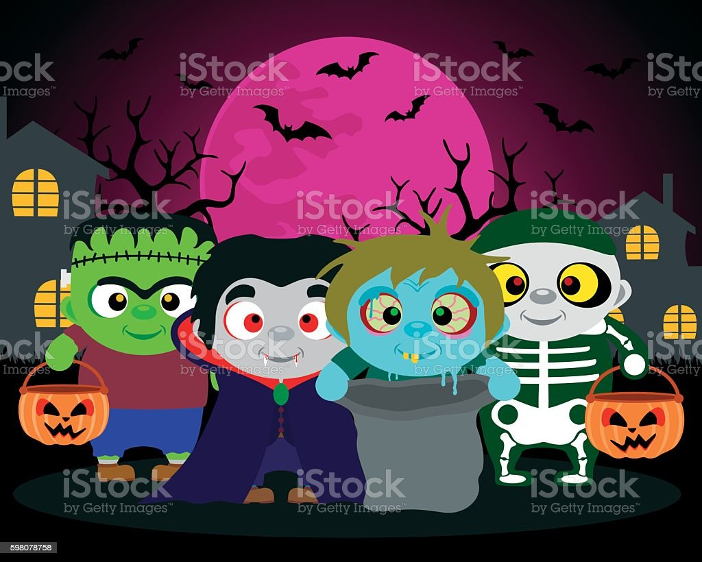 Trick Or Treat Clip Art Vector Images Illustrations