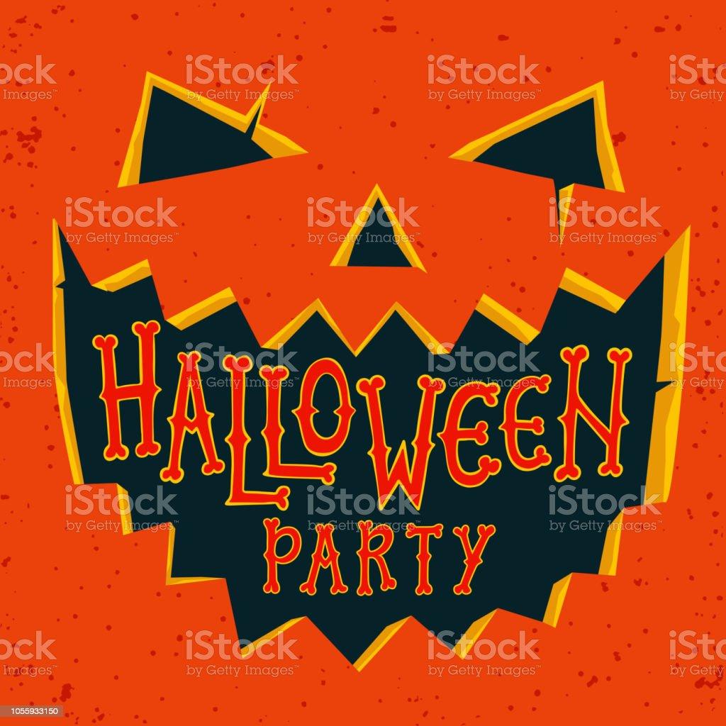 https www istockphoto com fr vectoriel carte dinvitation de f c3 aate halloween citrouille dhalloween avec le visage gm1055933150 282186200