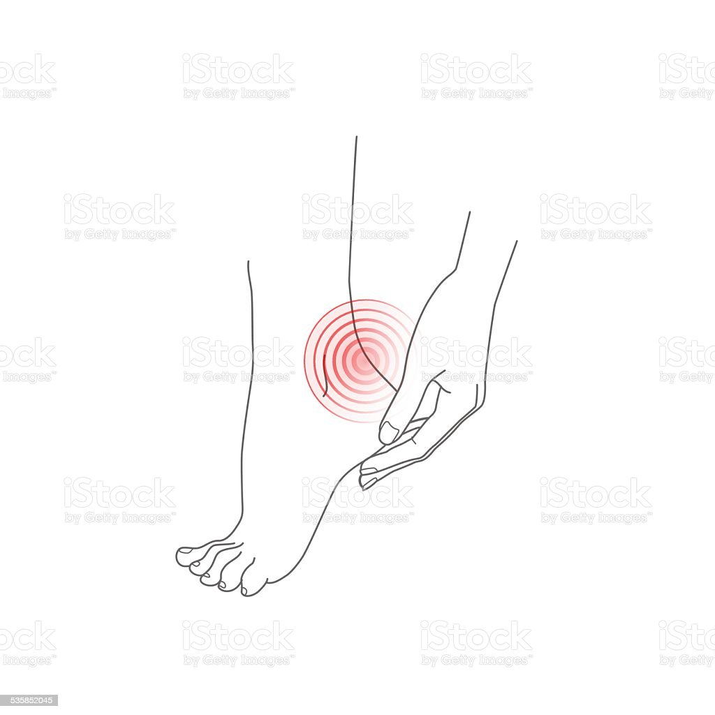 hight resolution of hand and foot pain feet vector illustration royalty free hand and foot pain