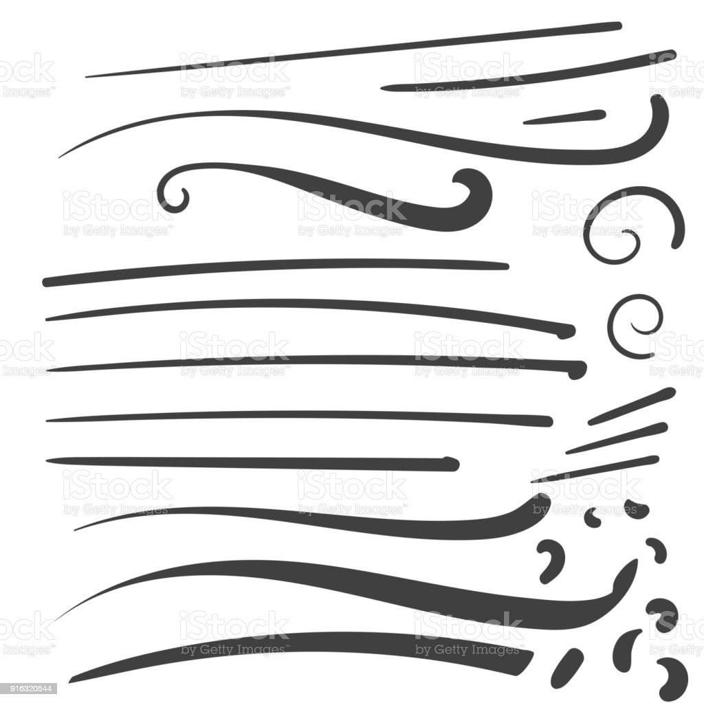 Hand Drawn Black Squiggle Swoosh Text Font Tail For