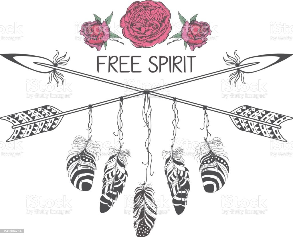 Hippie Free Spirit Tattoo Designs
